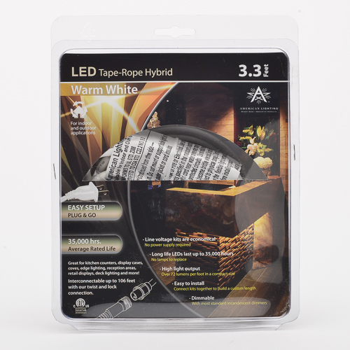 American Lighting 120 Tl60 3 Ww 4 8w Led Rope Light 3000k